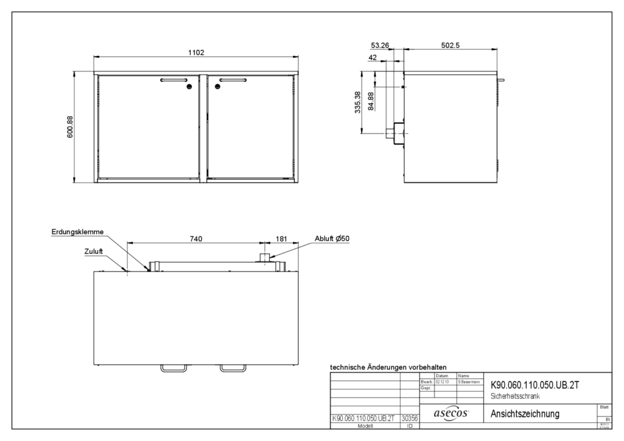 Combi Safety Storage Cabinets K90060110050ub2t 30365 001 365 Gtc Wiring Diagram Technical Drawing User Manual For According To En 14470 1 2